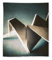 Paper Crane In Daylight Fleece Blanket