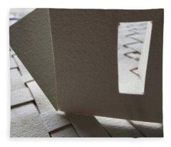 Paper Structure-3 Fleece Blanket