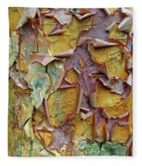 Paperbark Maple Tree Fleece Blanket