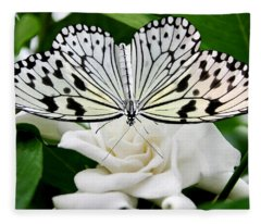 Paperkite On Gardenia Fleece Blanket