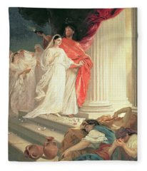 Parable Of The Wise And Foolish Virgins Fleece Blanket