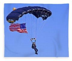 Parachutist Fleece Blanket