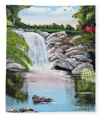 Paradise Falls Fleece Blanket