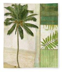 Paradise II Palm Tree Fleece Blanket