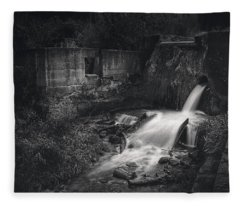 Paradise Springs Dam And Turbine House Ruins Fleece Blanket