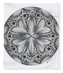 Paradoxical Zendala Fleece Blanket