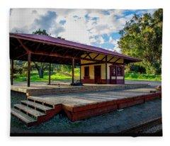 Paramount Ranch Train Deport Fleece Blanket