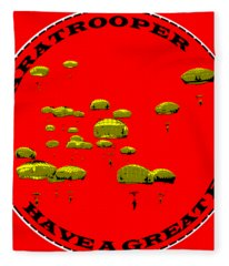 Paratrooper Fun Fleece Blanket