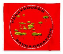Paratrooper Fun Fleece Blanket