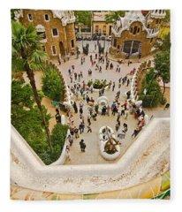 Parc Guell In Barcelona Fleece Blanket
