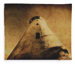 Parchment Paper Lighthouse Fleece Blanket