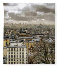 Paris As Seen From The Sacre-coeur Fleece Blanket