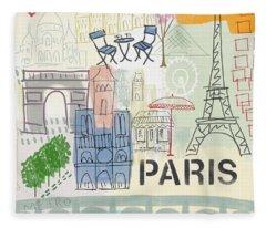 Paris Fleece Blankets