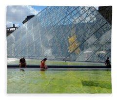 Paris Glass Pyramid Fleece Blanket