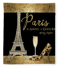 Paris Is Always A Good Idea - Audrey Hepburn Fleece Blanket