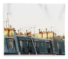 Paris Rooftops Fleece Blanket