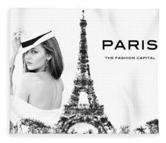 Paris The Fashion Capital Fleece Blanket