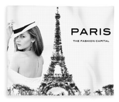 Paris The Fashion Capital Fleece Blanket