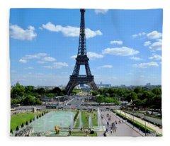 Paris Wide Fleece Blanket