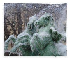 Paris Winter Fleece Blanket
