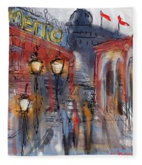 Parisian Street Fleece Blanket