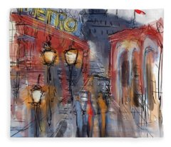 Parisian Street Fleece Blanket