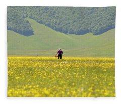 Parko Nazionale Dei Monti Sibillini, Italy 1 Fleece Blanket