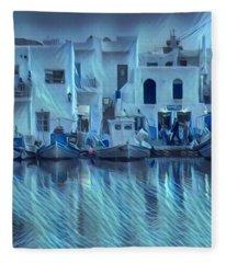 Paros Island Beauty Greece Fleece Blanket