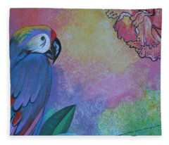 Parrot In Paradise Fleece Blanket