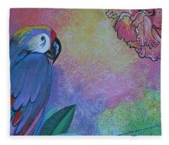 Parrot In Paradise Fleece Blanket