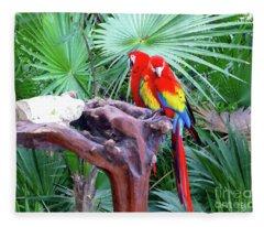Parrots Fleece Blanket