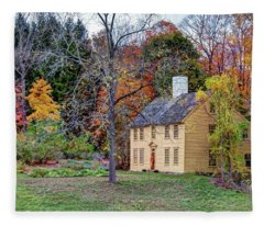 Parson Barnard House In Autumn Fleece Blanket