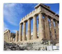 Parthenon On Acropolis In Athens Greece Fleece Blanket