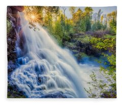 Partridge Falls In Late Afternoon Fleece Blanket