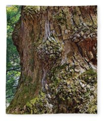 Party On The Tree Trunk Fleece Blanket