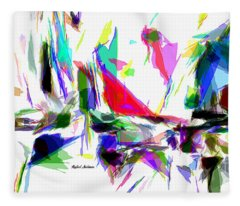 Fleece Blanket featuring the digital art Party Time by Rafael Salazar