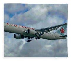 Passenger Jet Plane Fleece Blanket