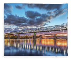 Passing Clouds Above Chattanooga Pano Fleece Blanket