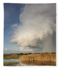 Passing Late Afternoon Rain Shower Fleece Blanket