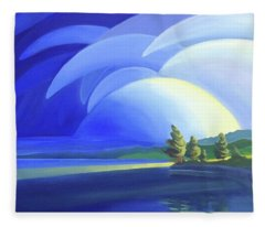 Passing Storm Fleece Blanket