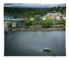 Passing Storm In Chattanooga Fleece Blanket