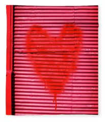 Passionate Red Heart For A Valentine Love Fleece Blanket