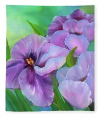 Passionate Tulips Fleece Blanket