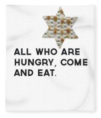 Passover Matzo- Art By Linda Woods Fleece Blanket