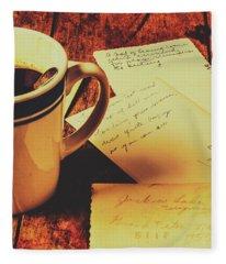 Past Postcard Preoccupations  Fleece Blanket