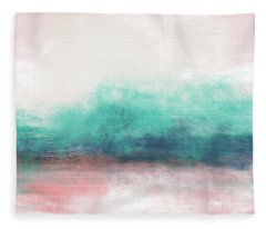 Pastel Coastal Escape-  Art By Linda Woods Fleece Blanket