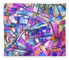 Pastel Kaleidoscope Fleece Blanket