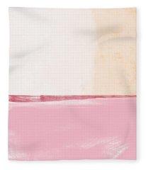 Pastel Landscape Fleece Blanket
