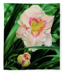 Pastel Lily Fleece Blanket