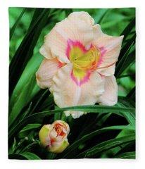 Pastel Lily Fleece Blanket